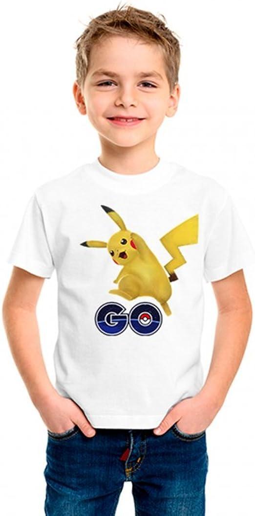 Camiseta Pokemon Pikachu Infantil Blanca - Talla 10, Blanco: Amazon.es: Ropa y accesorios