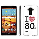 [ArmorXtreme] Phone Case for LG G Stylo LS770 / LG G4 Note Stylus / LG G Stylo H631 / MS631 [Clear] [Ultra Slim Cover Case] - [I Love 80s] -  ArmorXtreme for LG G Stylo H631