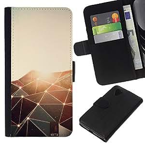 Leather Etui en cuir    LG Nexus 5 D820 D821    Polígono brilla Patrón @XPTECH