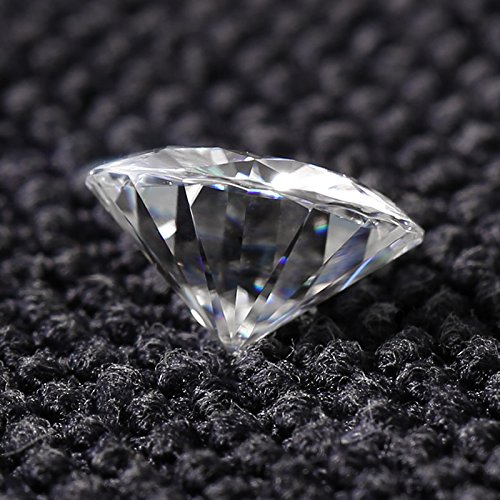 Moissanite Round Brilliant Cut VG Quality 8.5 mm 57 facets, Loose Stone by Charles & Colvard (Image #2)
