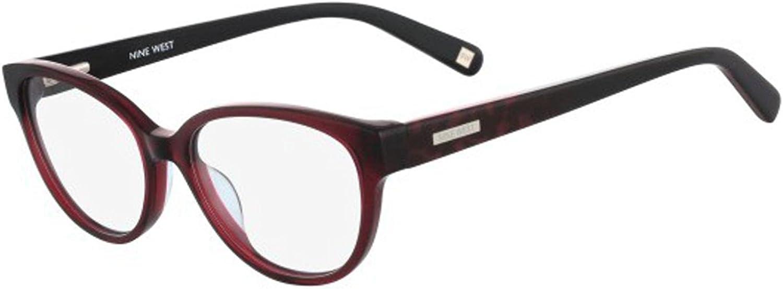 Eyeglasses NINE WEST NW5101 602 CRYSTAL BURGUNDY W-CHEETAH