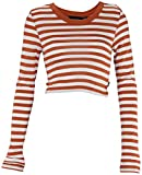 Wesc Women's Caty Long Sleeve Crop Top (X-Small, Autumn Glaze)