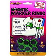 The Stikkiworks Co. STK33060 Magnetic Rings for Medium & Large Barrel Markers Whiteboard Accessory