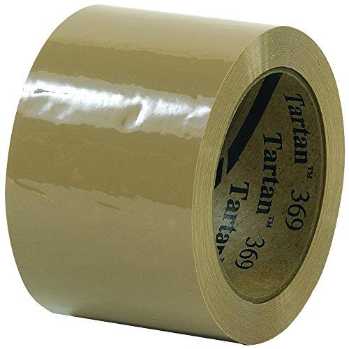 Tartan T905369T6PK Tan #369 Carton Sealing Tape, 3
