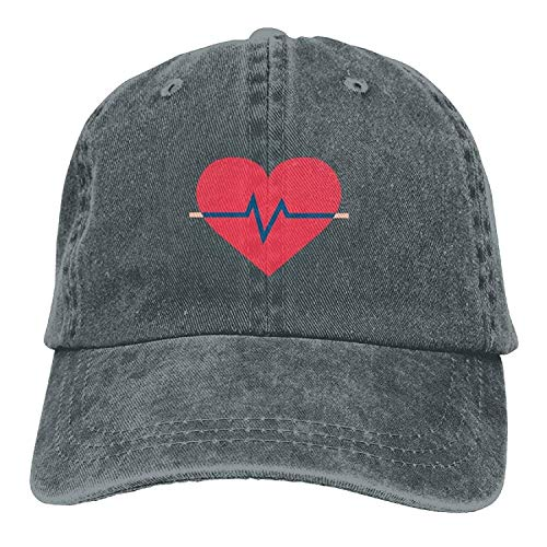sualurca Heart Disease Classic Cotton Dad Hat Adjustable Plain Cap Custom Denim Baseball Cap for Adult Fit