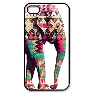 Customized Durable Case for Iphone 4,4S, Colored Elephant Phone Case - HL-698102