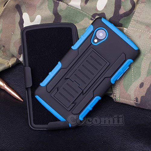 Cocomii Robot Armor LG Nexus 5 Case New [Heavy Duty] Premium Belt Clip Holster Kickstand Shockproof Hard Bumper Shell [Military Defender] Full Body Dual Layer Rugged Cover for LG Nexus 5 (R.Blue) (Lg Nexus 5 Accessories)
