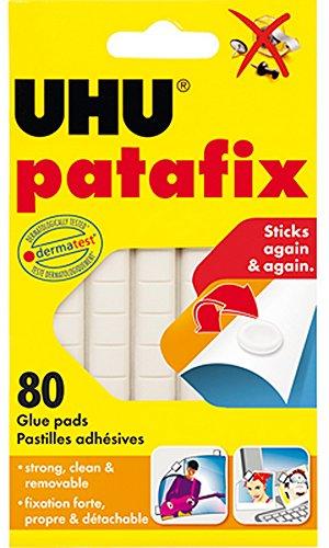 Glue Pad - UHU Patafix Glue Pad Removable Reusable White 80 pads