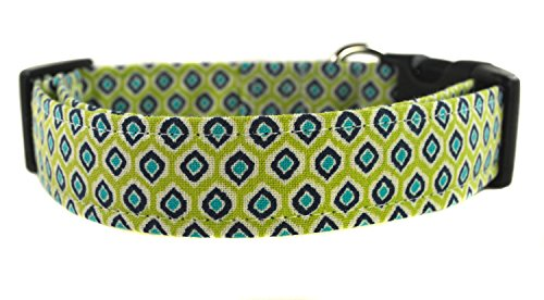 Yellow and Turquoise Dog Collar - The Axl