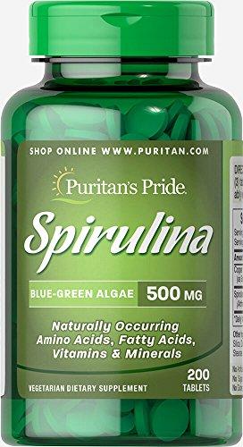 Puritan's Pride Spirulina 500 mg-200 Tablets Review