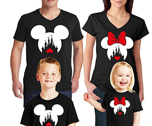 Natural Underwear Family Trip #2 Heart Love 2019 Couple T-Shirts Trip Mouse V Neck T Shirts Black Kids-Girls 2T