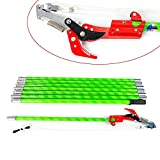 26 Foot Length Tree Pole Pruner Tree Saw Garden Tools Loppers Hand Pole Saws Branches Trimmer with Scissor & Blade