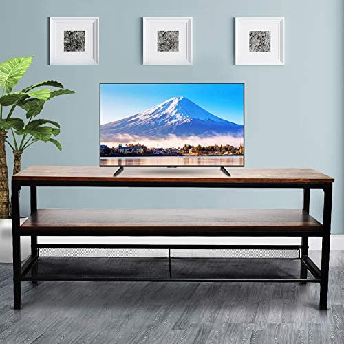 Hmlinktt 3 Layer Entertainment TV Cabinet, Open Removable, Retro Style, Brown, 41.323.617.7