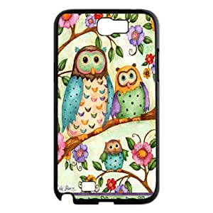 Fggcc Colorful Owl Pattern Cover Case for Samsung Galaxy Note 2 N7100,Colorful Owl Note2 Case (pattern 12)