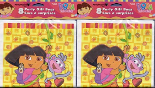 (Dora The Explorer and Boots Party Gift Bag Loot ( 2 Sets of 8 ) 16 Treat Bags Nick Jr Nickelodeon Birthday)