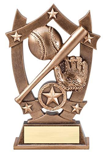 Express Medals (1-3-5パック) 6.25インチ スポーツスター 野球 トロフィー賞 刻印プレート付き B07H4P9VYQ  1