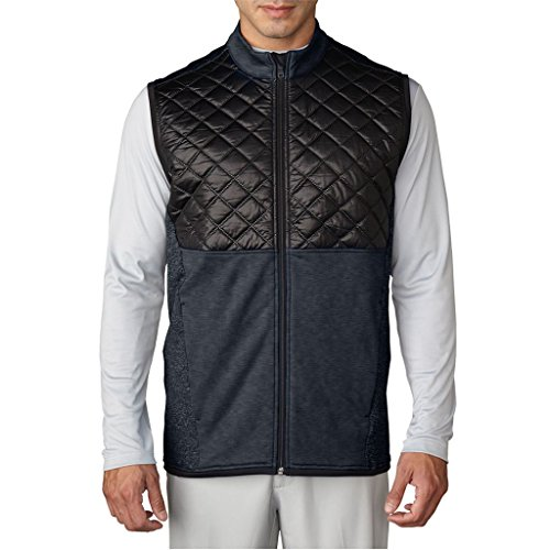 Adidas Golf 2016 Climaheat Prime Fill Gilet Insulated Quilted Mens Golf Thermal Vest Dark Grey Heather/Black Large -  AF27351_Gris-L
