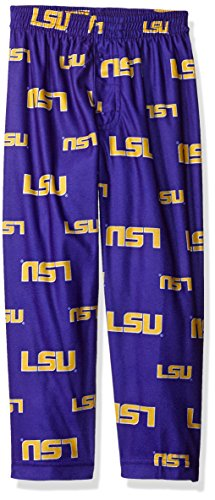 NCAA Lsu Tigers Toddler Boys Sleepwear All Over Print Pants, Size 2T, Regal Purple (Apparel Toddler Tigers)