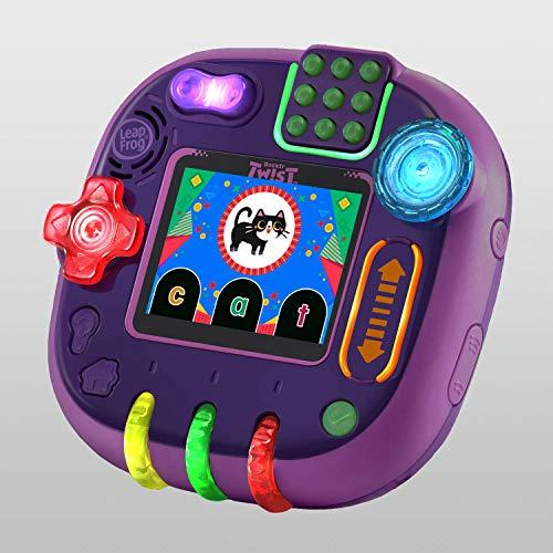 51dbECtz9tL - LeapFrog RockIt Twist Handheld Learning Game System, Purple