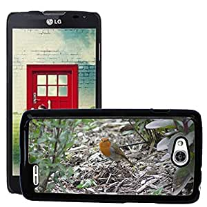 Just Phone Cases Etui Housse Coque de Protection Cover Rigide pour // M00127547 Red Robin Aves Robin // LG Optimus L90 D415