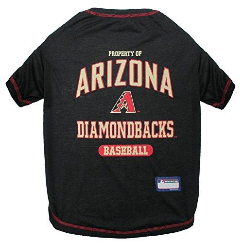 - MLB Arizona Diamondbacks Dog T-Shirt, Small. - Licensed Shirt for Pets Team Colored with Team Logos
