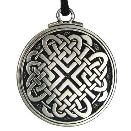 Celtic Knot Woven Heart Pendant Jewelry Irish Necklace Viking Gebo Love Rune - Woven Knot