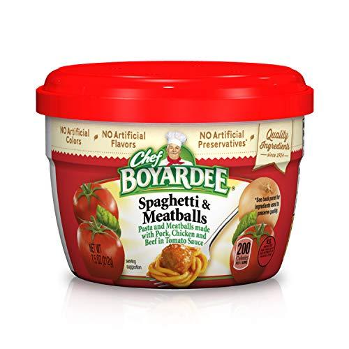 - Chef Boyardee Spaghetti & Meatballs in Tomato Sauce, 7.5 Oz.