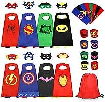 Jojoin Capas de Superhéroes para Niños, 6/8 PCs Capas de Superhéroes, Juguete y Regalo para Disfraces para Niños