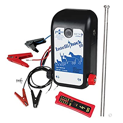 Premier IntelliShock 10 (Battery) Fence Energizer Kit with 1.0 Joule Energizer