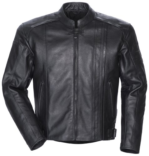 TourMaster Coaster 3 Men's Leather Motorcycle Jacket (Black, Medium)