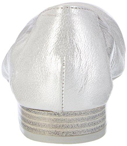 Caprice 22160, Bailarinas para Mujer Plateado (Silver Metal.)