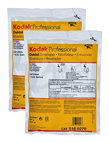 2-Pack Kodak Professional Dektol Developer Powder for Paper, Makes 2 Gallons Total by Kodak