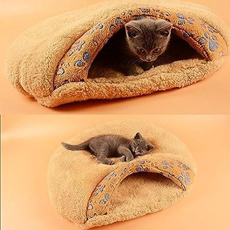 Saco de dormir para gato/perro Ulable suave con forma de cueva para mascotas: Amazon.es: Productos para mascotas