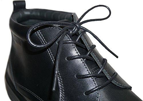 Shoeslulu 20-59 Premium Runde Vokset Lerret Shoelaces Bootlaces Midnatt Svart