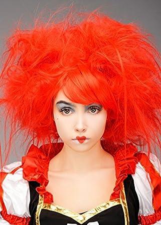 Magic Box Peluca Reina de Corazones con Espalda roja para Mujer