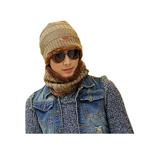 Hat Scarf Set For Women/Man Fashion Girl Shawl Boy or Girlfriend Gift Boy Lady Warm Knit Thick Winter Cap Wrap For Spring Autumn Winter (ushat-6)