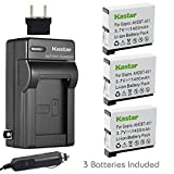 Kastar Battery (3-Pack) and Charger Kit for GoPro HERO4 and GoPro AHDBT-401 - AHBBP-401 Sport Cameras