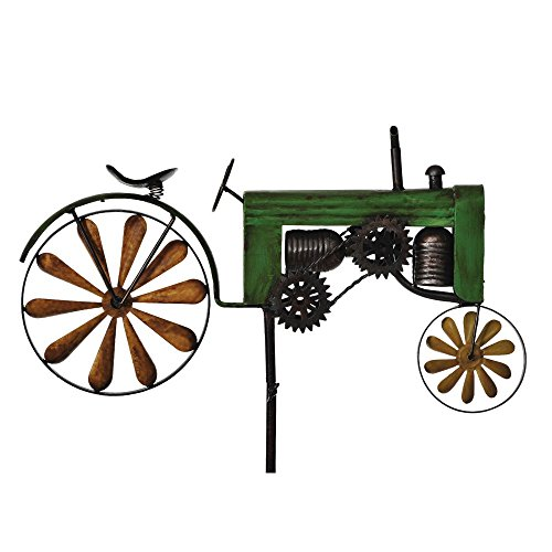 Russco III WS134738 Metal Transit Wind Spinners, Tractor
