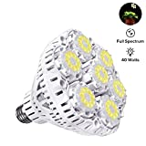 photon light board - SANSI 40W Daylight LED Plant Light Bulb, Full Spectrum Ceramic LED Grow Light Blub, 63 LED Chips, E26 Socket, Indoor Gardening for the Home, Indoor Farming, Residential, Office Plants, Grow Walls
