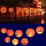Hanging Pumpkin Light Home Decor, Elevin(TM) New Halloween Paper Pumpkin Hanging Lantern DIY Holiday Party Decor Scary (6pcs Set)