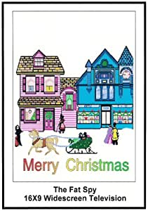 The Fat Spy: 16x9 Widescreen TV.: Greeting Cards: Merry Christmas