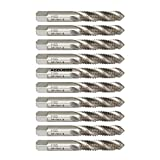Accusize Industrial Tools M10x1.5, H.S.S. Spiral Flute Taps with Ground Threads, 10 Pcs, 2012-0031x10