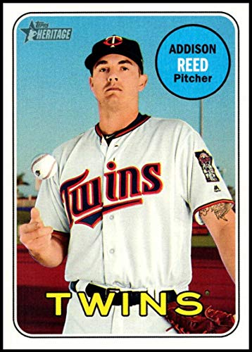 2018 Topps Heritage High Number Baseball #607 Addison Reed Minnesota Twins Official MLB Trading Card