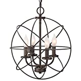 "Revel / Kira Home Orbits II 15"" 4-Light Modern Sphere/Orb Chandelier, Oil-Rubbed Bronze Finish"