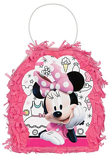 amscan Disney Minnie Mouse Happy Helpers Tissue Favor Container, One Size, Multicolor ()