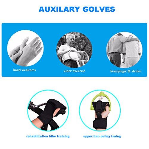 Enshey Rehabilitation Training Gloves Finger Splint Brace Ability Finger Gloves Brace Elderly Fist Stroke Hemiplegia Finger Anti-Spasticity Rehabilitation Auxiliary Training Gloves by Enshey (Image #2)