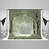 Kate 20ft(W) x10ft(H) Winter Backdrops For Photography Snow Frozen Forest Background For Studio Props