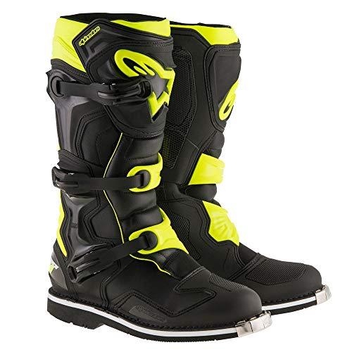 (Alpinestars Mens Tech 1 Boot (Black/Yellow, 6))