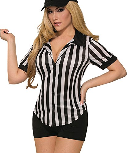 Forum Novelties 79497 Sexy Referee Shirt-Female-St Costume, Standard, Multicolor ()
