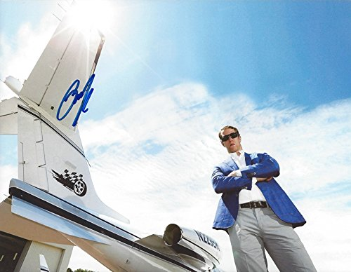 AUTOGRAPHED Brad Keselowski #2 Miller Lite Racing AIRPORT PRIVATE JET (Team Penske Driver) Signed Collectible Picture NASCAR 9X11 Inch Glossy Photo with COA